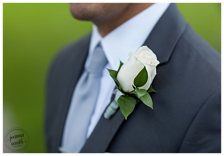 Groom boutenniere detail by Joanna Smith Photography