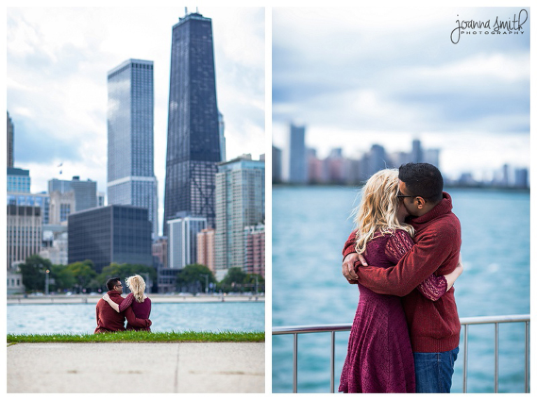 Chicago engagement session with skyline Joanna Smith Photography Chicago engagement