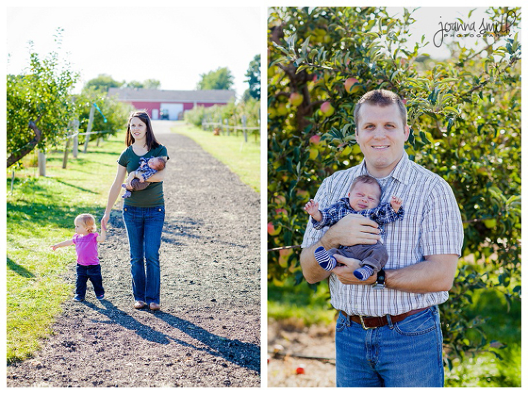 Illinois Family Photos in an Orchard