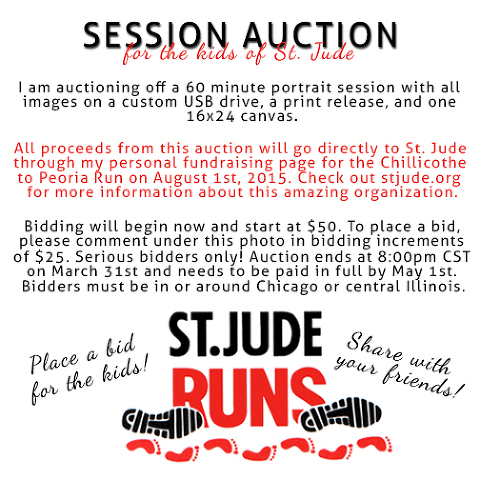 St. Jude Runs Photography Session Auction Chicago Illinois Photographer Fundraiser