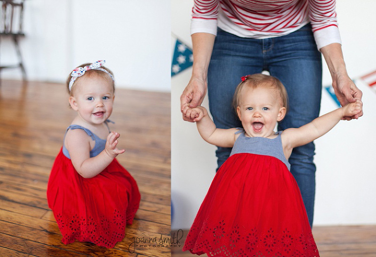 Girl Cake Smash Idea, Cake Smash Inspiration, Chicago Child Photography, Red White and Blue birthday