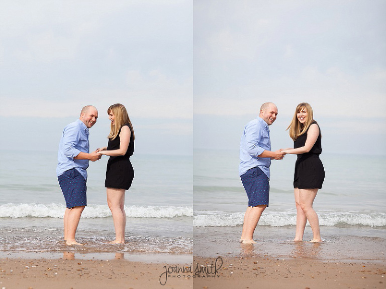 Chicago weddings, engagement photos, beach engagement pics