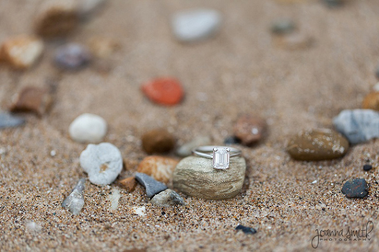 Beach ring shot, Lighthouse Beach in Evanston, Illinois, Chicago wedding photography