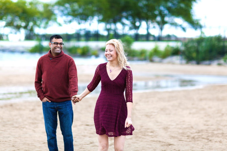 Beach Mini Session, Illinois engagement photographer, Chicago beach minis