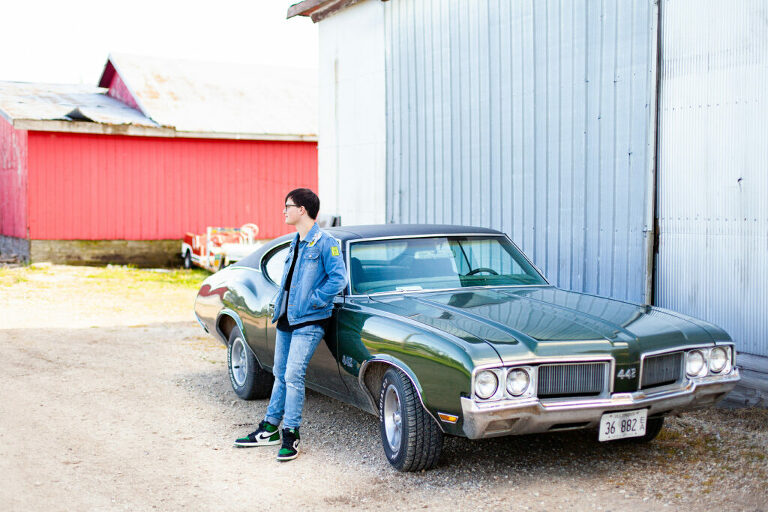 Senior photography, Chillicothe senior photos, Peoria Illinois senior photographer, Illinois senior photography, Classic car