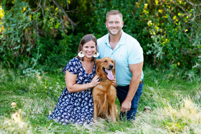 Best Peoria family photographers, best Illinois photographer, family photos, furbaby session, family picture inspiration, Donovan Park, Couples photography