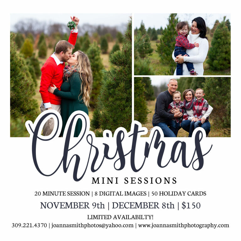 Chillicothe Illinois family sessions, Peoria Christmas sessions, Illinois Christmas mini sessions, Holiday minis near me, Peoria IL Christmas Minis